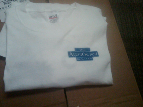 photo of AgentOwned Realty white t-shirt