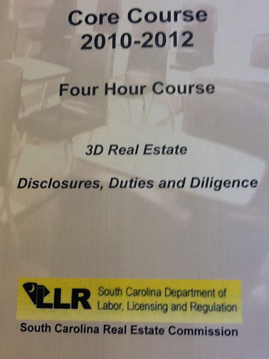 photo of cover sheet for 3 D's course